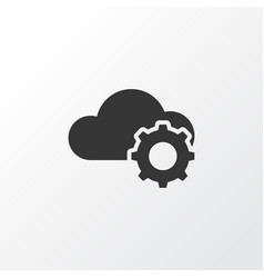Cloudtech icon symbol premium quality isolated vector