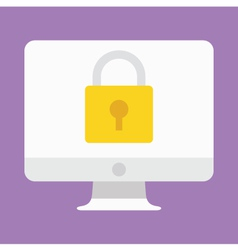 Computer Display Security Icon vector