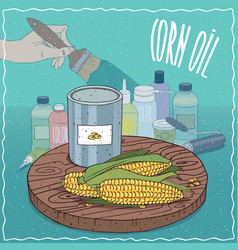 Corn oil used for paint manufacture vector