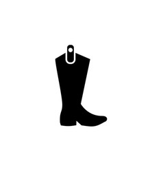 cowboy boots icon on white background clothing or vector image