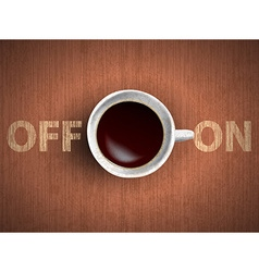 cup of coffee concept vector image