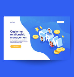 customer relationship management concept vector image