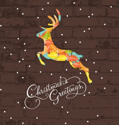 Decorative christmas deer vector