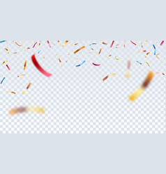 defocused goldred and blue confetti isolated on vector image