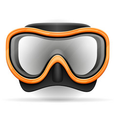 diving mask stock vector image