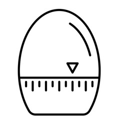 egg timer icon outline style vector image