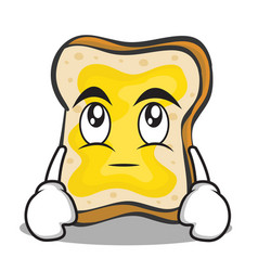 eye roll face bread character cartoon vector image