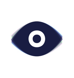 eye sign colorful icon vector image