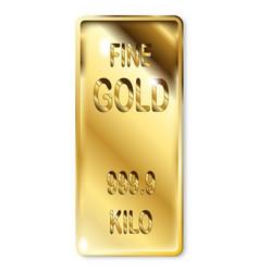 fine gold ingot vector image