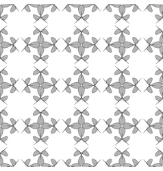 Flowers geometric seamless pattern 1207 vector image
