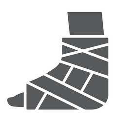 Foot brace glyph icon orthopedic and medical vector