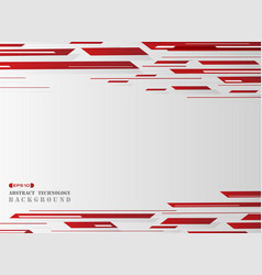 gradient red grid line pattern technology vector image