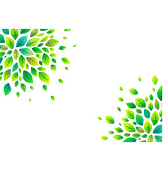 green summer leaves poster background vector image