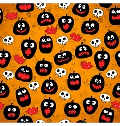 Halloween seamless pattern with Pumpkin silhouette vector