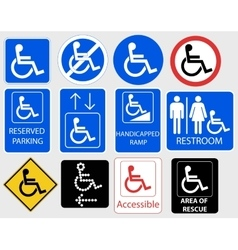 Handicap Symbol Graphic vector image