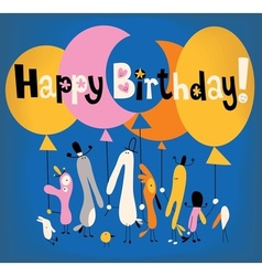 Happy Birthday card 3 vector image