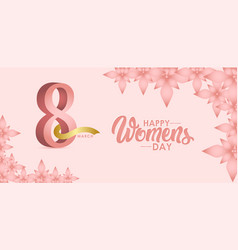 Happy womens day celebration march 8 template vector