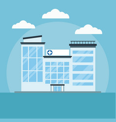 hospital building cartoon vector image