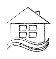 House exterior emblem isolated icon vector