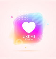 like me thanks you social media concept vector image