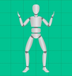 Motion tracking technology on green background vector image