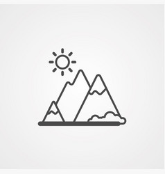 mountain icon sign symbol vector image