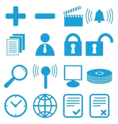 New flat icons set vector image