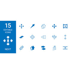 next icons vector image