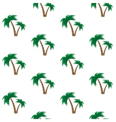 Palm trees pattern vector image