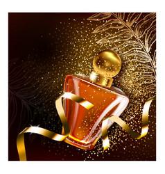 perfume for women creative promo poster vector image
