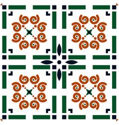 portuguese tile azulejo background vector image