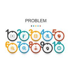Problem infographic design templatesolution vector
