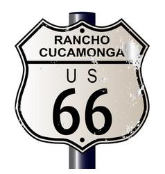 Rancho cucamonga route 66 sign vector