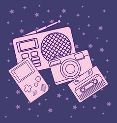 Retro radio design vector