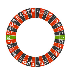 Roulette casino wheel template with double zero on vector