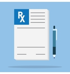 Rx prescription form vector image