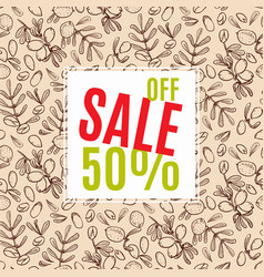 Sale of eco-style banner vector
