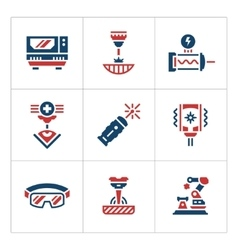 Set color icons of laser vector