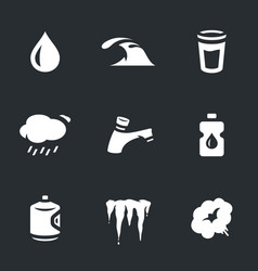 set water icons vector image