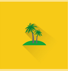 simple palm trees icon on orange background eps vector image
