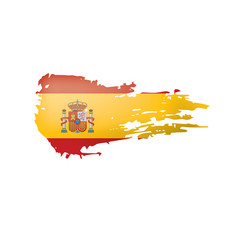 Spain flag on a white vector