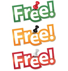 Sticker set free vector