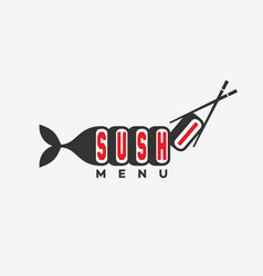Sushi menu logo vector