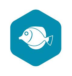 Tang fish zebrasoma flavescens icon vector