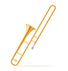 trombone wind musical instruments stock vector image
