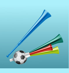 trumpet football fan vector image