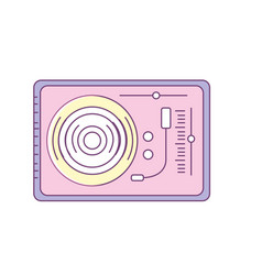 turntable to listen and play music vector image