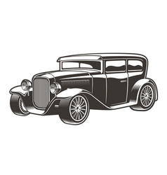 vintage hot rod vector image