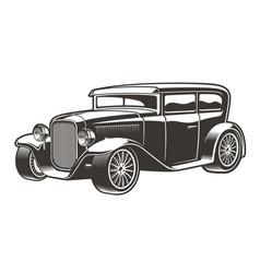 vintage hot rod vector image