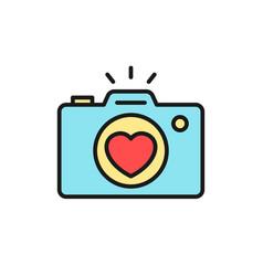 Wedding party camera photography documentation vector